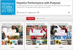 PepsiCo uses Pinterest to promote the work of the organisation and their people in relation to their corporate social responsibility programme Global Citizenship, Corporate Social Responsibility, Marketing Program, Sustainability, No Response, Management, Social Media, How To Plan, Digital