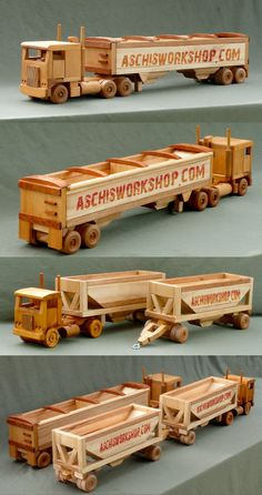 #woodworkingplans #woodworking #woodworkingprojects Truck Toys Plans                                                                                                                                                      More