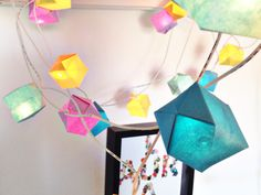 DIY - Origami Water bombs for my twinkle lights