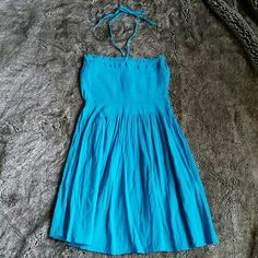 Swim coverup dress Beautiful and stretchy in the bust to fit any size. Very vibrant color Swim Coverups