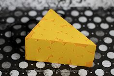 Create a block of cheese as a prop for Halloween - perfect for a mouse costume! #Silhouette
