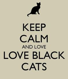 Keep calm and love black cats please repost if you agree black cats need love too