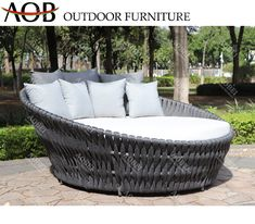 Modern Outdoor Garden Hotel Resort Patio Villa Furniture Sun Lounger Grey Round Daybed Cabana Gazebo Sofabed Sunbed Material : Rope. Frame Material : Aluminum. Style : Modern. Usage : Hotel, Hospital, School. Usage : Hotel, Hospital, School, Resort, Villa, Apartment, Swimming Pool, Villa. Disassembly : Disassembly. Color : Brown. Customized : Customized. Condition : Hot Sale. Warranty : 2years or 3years or 5 Years as Requests. After Sales : All Complains Handle Within 1-3 Days. MOQ : 5 Sets. Mai Outdoor Daybed, Outdoor Furniture, Outdoor Decor, Rope Frame, Resort Villa, Framing Materials, Cabana, Sofa Bed, 5 Years