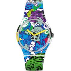 awesome Swatch Wall Paint Watch SUOW133 just added... Check it out at: https://buyswisswatch.co.uk/product/swatch-wall-paint-watch-suow133/