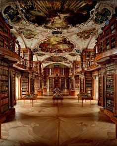 The Abbey library of Saint Gall, St. Gallen Monastery, Switzerland.
