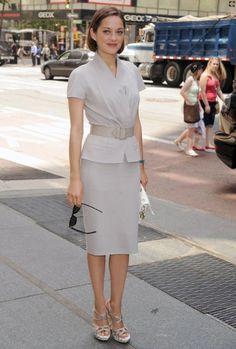 Marion Cotillard in a retro-inspired Dior suit