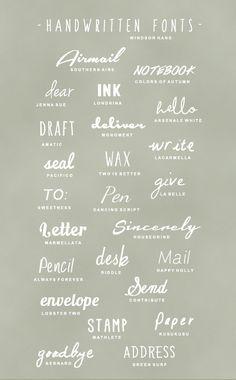 Favourite Font Combos