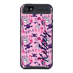 Personalized Pink Purple Rocker SkinIt Cargo Case iPhone 5 Cover