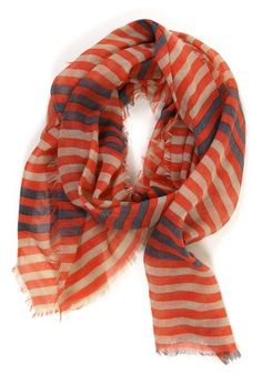 Stripes on Stripes Scarf: Orange.  -Truth is you can never truly have too many scarves.