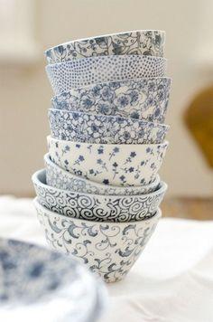 Azul + Branco / cerâmica