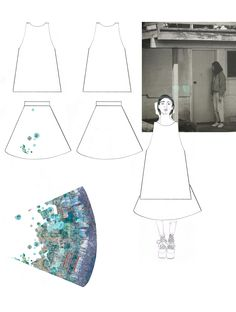 Fashion Sketchbook - fashion design development; fashion drawings; fashion student portfolio // Rebecca Kellett