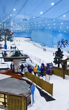 My favorite wintersport is skiing. In Dubai, there is an indoor ski resort. There are multiple runs and amazing snow. The 'mountains' are high, so I can ski very quickly!