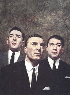 The Krays Illustration by Brian Sanders, represented by Artist Partners Brian Sanders, The Krays, Football Casuals, Al Capone, Bad Boys, Bad Men, Twin Brothers, History Facts, Rare Photos