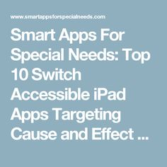 10 Top Apps For Students With Special >> 83 Best Apps For Students With Switches Images Special Needs