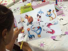 Actividad para el cuento Circo Alegría de Nanu González, Miau. Verano 2015. Las ilustraciones de los personajes del circo son de Emmanuelle Colin