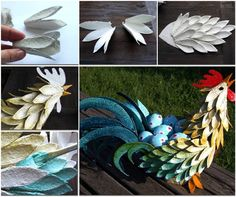 Egg Carton Craft - Easter Rooster