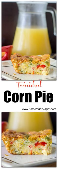 Corn Pie - A delicious casserole combining sweet corn and savory bell peppers. Perfect side for those family gatherings.