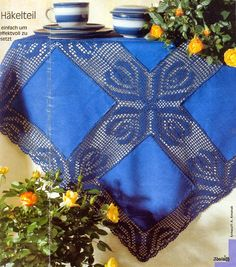 Diana Special - D 824 - veronique jeanne - Веб-альбомы Picasa Crochet Fabric, Crochet Tablecloth, Crochet Doilies, Easy Crochet, Knit Crochet, Crochet Borders, Crochet Diagram, Crochet Designs, Crochet Patterns
