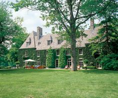Ralph Lauren country estate in Bedford NY, view from the back.