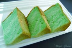 Pandan Chiffon Cake (Cooked Dough Version)