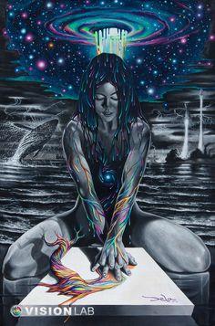 BY DELA / surreal psychedelic art Psychedelic Art, Animation 3d, Psy Art, Dope Art, Visionary Art, Black Art, Art Inspo, Fantasy Art, Art Projects