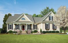 One-Story Ranch Style Home Plans from Don Gardner Architects traditional exterior