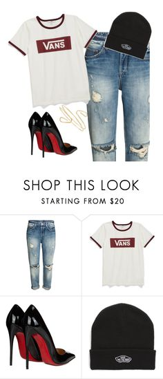 """Untitled #20"" by sandrabcmoonen ❤ liked on Polyvore featuring Vans and Christian Louboutin"