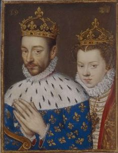 The children of Henri II and Catherine de Medici: The second son to become king, Charles IX and his wife Elisabeth Archduchess of Austria.