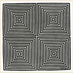 Carpet VP01 BW- Design Verner Panton - Designer Carpets