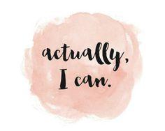 Actually I can.