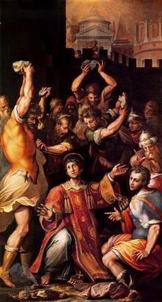 Giorgio Vasari - Lapidación de San Esteban