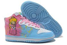Princess Peaches Shoes Nikes Dunk High Tops : Cool High Tops Nikes Dunks Adidas Converse Cartoon Shoes, Cheap For Sale