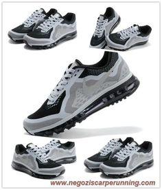 newest bedf8 a2595 scarpe da calcio Uomo 621077-002 Bianco Grigio Nero Nike Air Max 2014