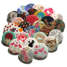 Fabric Covered Pocket Mirrors - ladies favours