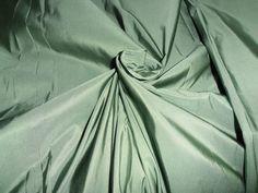 "50 mm heavy weight Sage Green SILK TAFFETA fabric 54"" wide**"