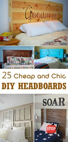 25 Cheap and Chic DIY Headboard Ideas & 31 funky and creative headboards Idea Box by Funky Junk Interiors ...