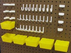 Pegboard Kits hooks and plastic bins $15.95 free shipping