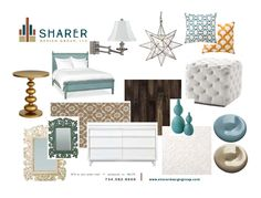 Bedroom:: Teal and Gold