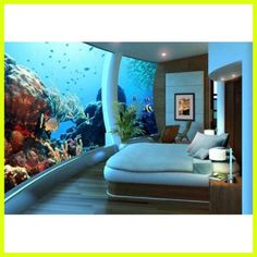an aquarium right out your bedroom - GEORGOUS