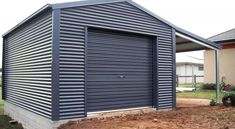 Custom-Designed Garaports (Garage & Carport Combo Buildings) To Suit Your EXACT Requirements - Aussie Steel & ShedSafe® Accredited. Call or Request a Quote Online Pre Engineered Buildings, Steel Sheds, Building Layout, Diy Shed Plans, Lean To, Garden Studio, Steel Buildings, Garage Design, Home Reno