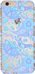 Capinha para celular - Flores Azuis