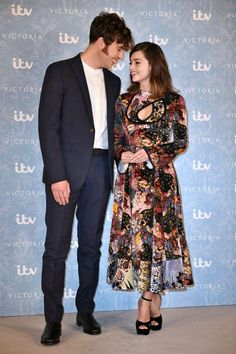 Jenna and boyfriend Tom Hughes at the Victoria series two launch last month Queen Victoria Series, Victoria Bbc, Victoria Tv Show, Queen Victoria Prince Albert, Victoria 2016, Jenna Coleman Boyfriend, Tom Hughes Victoria, Matt Smith Lily James, Victoria Masterpiece