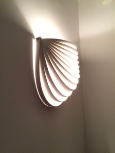 DIY pvc stripes wall lamp