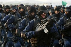 arab military forces | Saudi Arabian special security forces march during a military parade ...