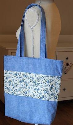 Taška s podšívkou Reusable Tote Bags, Handmade, Hand Made, Craft
