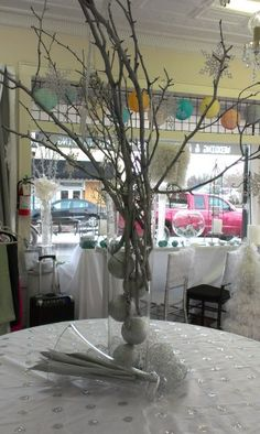 Garden Floral Weddings - Event Decor and Tree Branch Centerpieces, Table Decorations, Wedding Events, Weddings, Event Decor, Tree Branches, Floral Wedding, Glass Vase, Garden