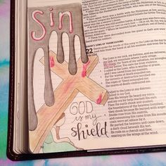 October 22. 2 Samuel 22:3 The Lord is...my shield...❤️ In one of the breakout sessions, the speaker described a mother losing her own life to protect her son. Christ has done this for each of us. We can trust that He has protected us in the most loving way possible even when life is hard. He is where we can find refuge. ❤️ #ccef2016 #everyday #bibleartjournalingcommunity #bibleartjournalingchallenge #bibleartjournaling #bibleartjournal #bibleartwork #bibleart #biblejournalingcommunity #bi...