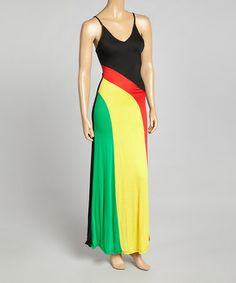 Another great find on #zulily! Red & Yellow Stripe Maxi Dress #zulilyfinds