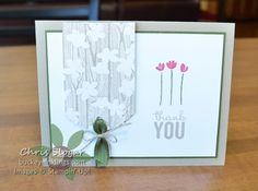 Irresistably Yours designer paper and Painted Petals, Stampin' Up!