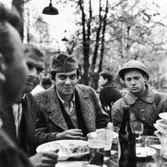 Stanley Kubrick on the set of PATHS OF GLORY (Stanley Kubrick, USA, 1957) #Kubrick